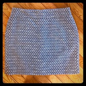 Ann Taylor Loft Petites A-line Textured Skirt
